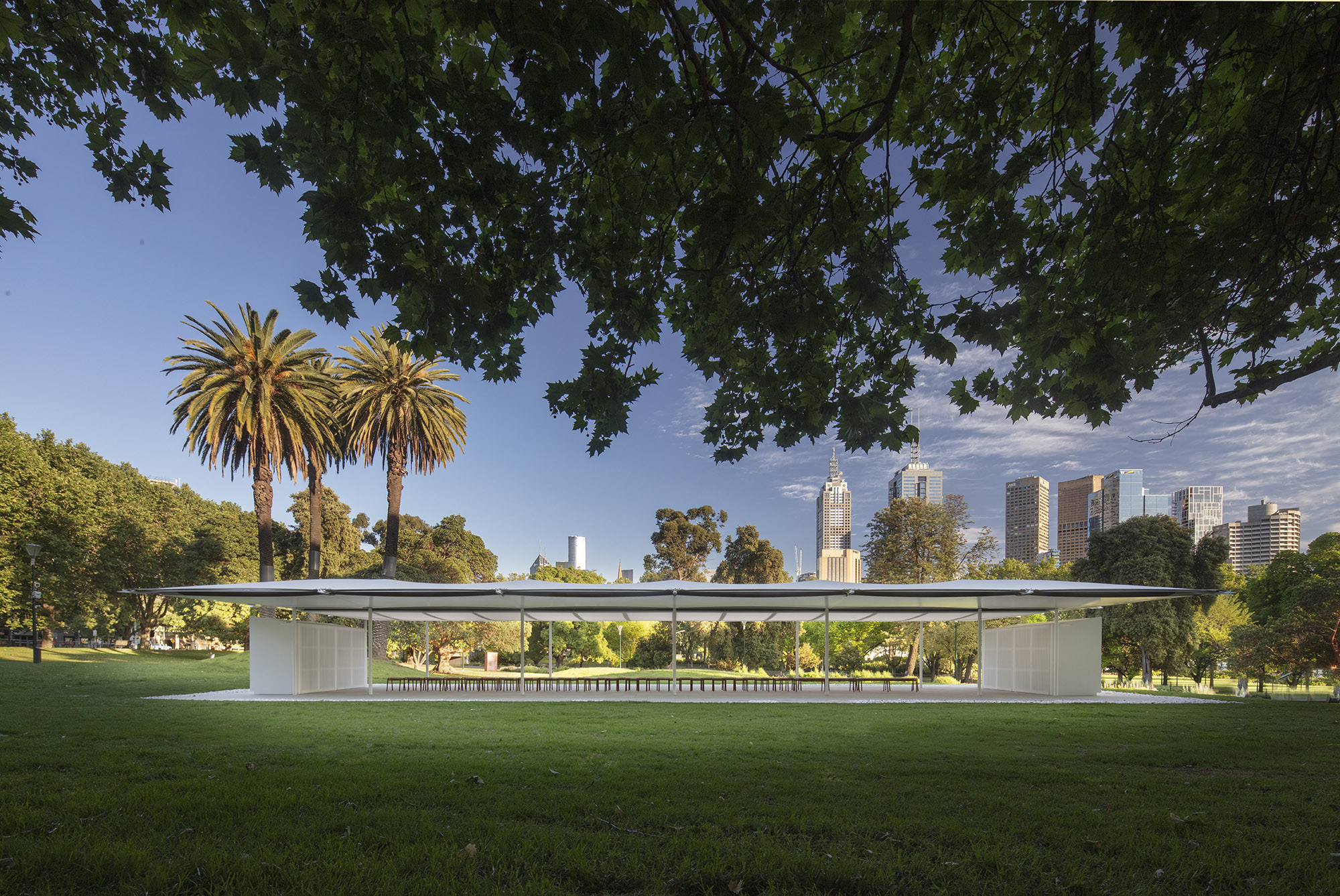 Welcome to MPavilion 2019 by Glenn Murcutt! First bird's eye video and photos