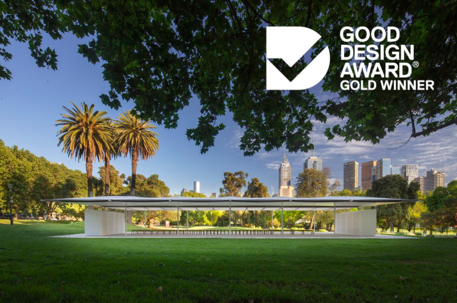 MPavilion 2019 wins Gold Accolade at Good Design Awards
